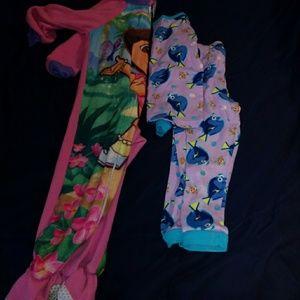 Girls toddler PJ's 2 pairs